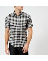 BOSS Green - Barn Short Sleeve Checked Shirt - Lyst