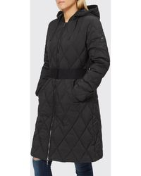 Armani Exchange - Long Quilted Down Coat - Lyst