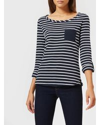 Barbour - Chest Pocket Striped Top - Lyst
