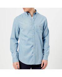 GANT - Indigo Regular Button Down Shirt - Lyst