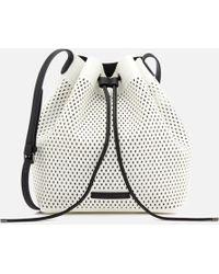 Armani Exchange - Perforated Bucket Bag - Lyst