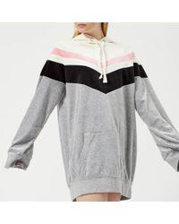 b742d83fb7 Juicy Couture - Colourblock Lightweight Velour Hooded Dress - Lyst