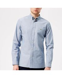 Lacoste - Long Sleeved Casual Shirt - Lyst
