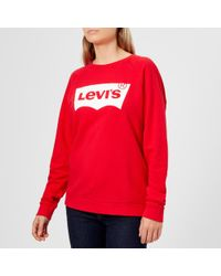 Levi's - Relaxed Graphic Crew Neck Jumper - Lyst