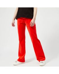Juicy Couture - Velour Del Ray Trousers - Lyst
