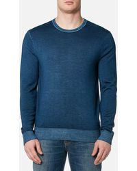 Michael Kors - Washed Merino Crew Neck Sweater - Lyst