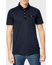 Ted Baker Nervy Velvet Collar Polo Shirt