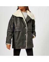 Gestuz - Lilli Jacket With Sheepskin Trim - Lyst