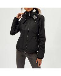 Superdry - Hood Fur Sherpa Wind Attacker - Lyst