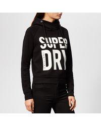 Superdry - Dimension Panel Sport Crop Hoodie - Lyst
