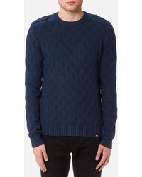 Pretty Green - Hertford Crew Neck Knitted Jumper - Lyst