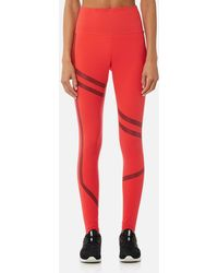 Reebok - Linear High Rise Tights - Lyst