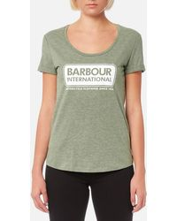 Barbour - Women's Track Tshirt - Lyst