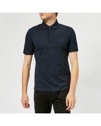 e6362ff3 Lyst - Armani Exchange Checkered Tonal Short-sleeve Polo Shirt in ...