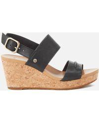 UGG - Elena Ii Double Strap Wedged Sandals - Lyst
