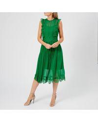 Ted Baker - Porrla Frill Lace Midi Dress - Lyst