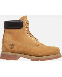 Timberland - 6 Inch Premium Waterproof Leather Boots Wheat - Lyst