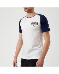 PUMA - Style Athletic Block Short Sleeve T-shirt - Lyst