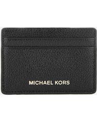 MICHAEL Michael Kors - Mercer Pebble Card Holder - Lyst