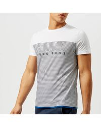 BOSS Green - Teep 1 Stripe T-shirt - Lyst