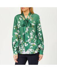 Ted Baker Johsie Graceful Ruffle Full Sleeve Top - Green