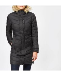 Superdry - Chevron Faux Fur Super Fuji Jacket - Lyst