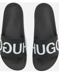 HUGO - Men's Time Out Slide Sandals - Lyst