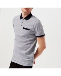 Ted Baker - Sloughi Geo Print Polo Shirt - Lyst