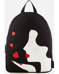 Lulu Guinness - Women's Kissing Cameo Backpack - Lyst