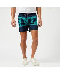 DIESEL - Wave Logo Swim Shorts - Lyst