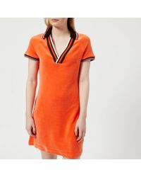 41efb6b1a7 Juicy Couture - Stretch Velour Polo Dress - Lyst