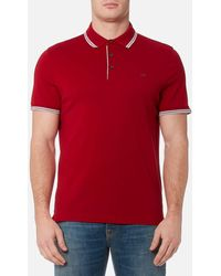 Michael Kors - Greenwich Logo Jacquard Polo Shirt - Lyst