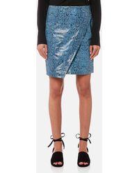 Gestuz - Mishael Skirt Snake Print Leather - Lyst