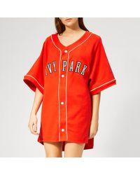 Ivy Park - Baseball Logo Oversized T-shirt - Lyst