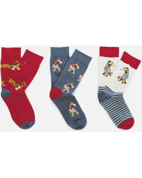 Joules - Brilliant Bamboo 3 Pack Socks - Lyst