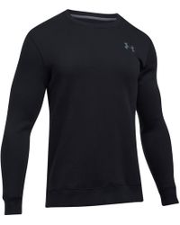 Under Armour - Rival Solid Fitted Crew Sweatshirt - Lyst