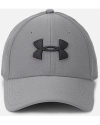 d35c10066b9 Lyst - Under Armour Ua Blitzing Ii Stretch Fit Cap in Gray for Men