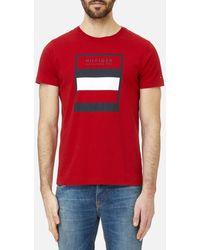5c4098fc Lyst - Tommy Hilfiger Flag Logo T-shirt in Gray for Men
