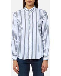 GANT - Barre Stripe Shirt - Lyst