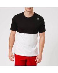 Reebok - Colour Block Short Sleeve T-shirt - Lyst