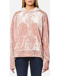 House Of Sunny - Spur Velour Hooded Top - Lyst