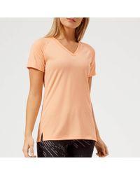 Asics - V Neck Short Sleeve Top - Lyst
