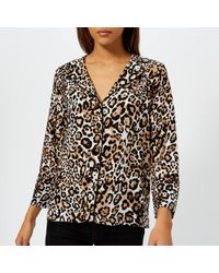 Whistles - Animal Print Pyjama Shirt - Lyst