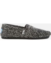 TOMS - Seasonal Jumper Knit/faux Shearling Lined Slip On Court Shoes - Lyst
