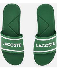 1f6029fe0b9ce Lacoste L30 Sliders Black in Black for Men - Lyst