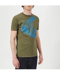 Vivienne Westwood Anglomania - Boxy Logo T-shirt - Lyst