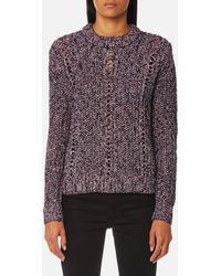 Maison Scotch - Crew Neck Multi Yarn Knitted Jumper - Lyst
