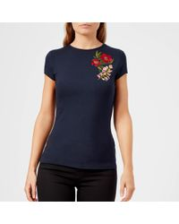 Ted Baker - Laylar Kirstenbosch Fitted T-shirt - Lyst