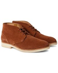 Hudson Jeans - Hatchard Suede Lace Up Shoes Tan - Lyst
