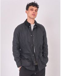 Barbour - Ashby Waxed Field Jacket Navy - Lyst